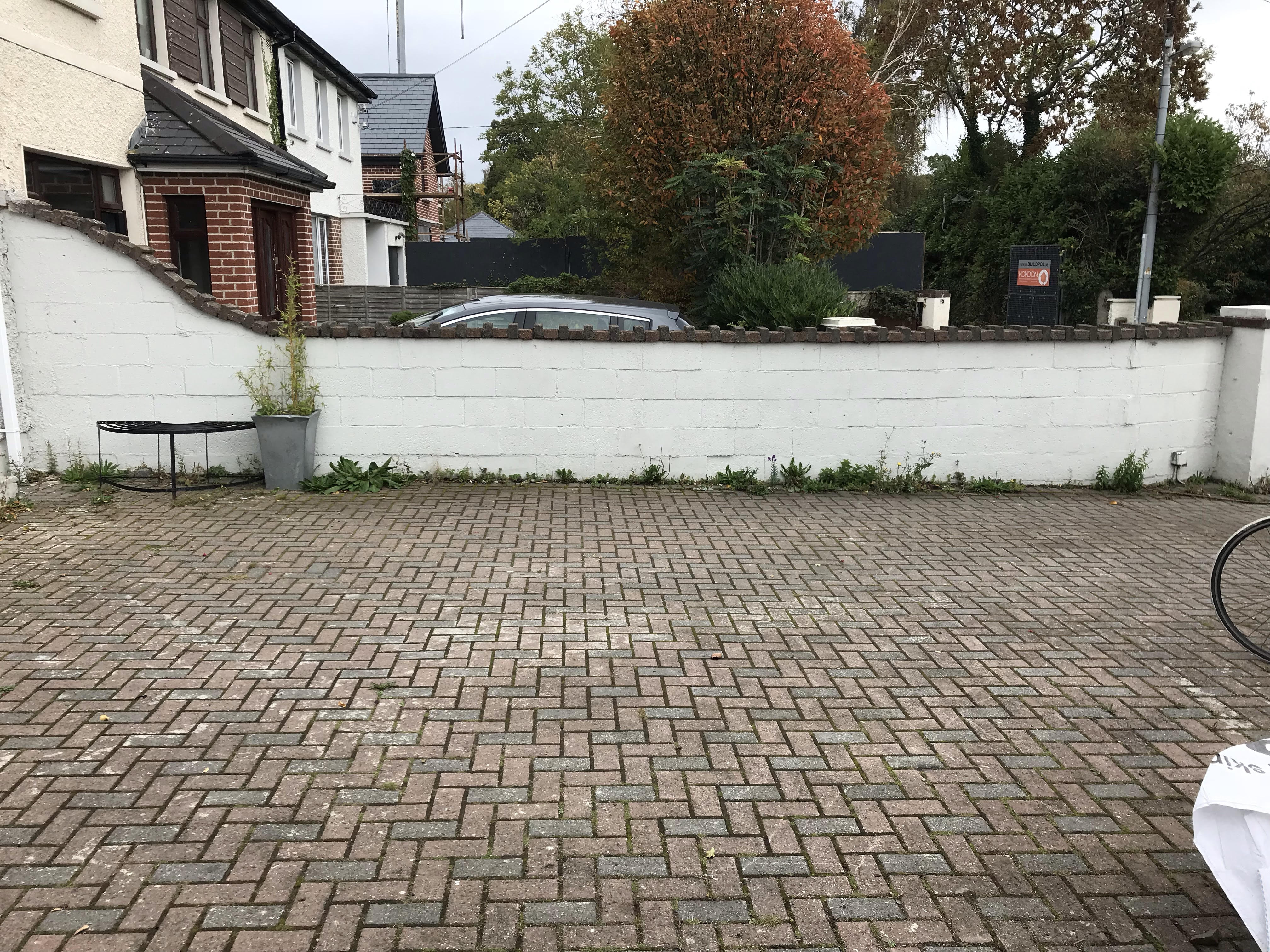 2 Front driveway walls. total 25 m square